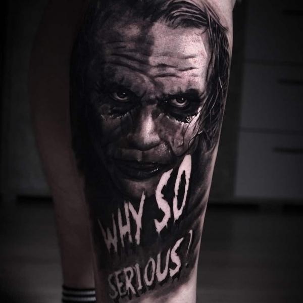 Joker Tattoo why so serious Artjom