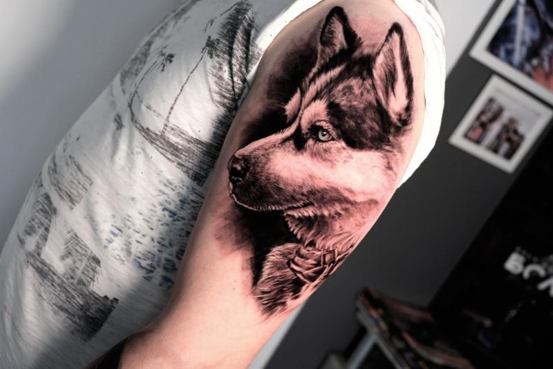 Husky-Tattoo-erste-Sitzung