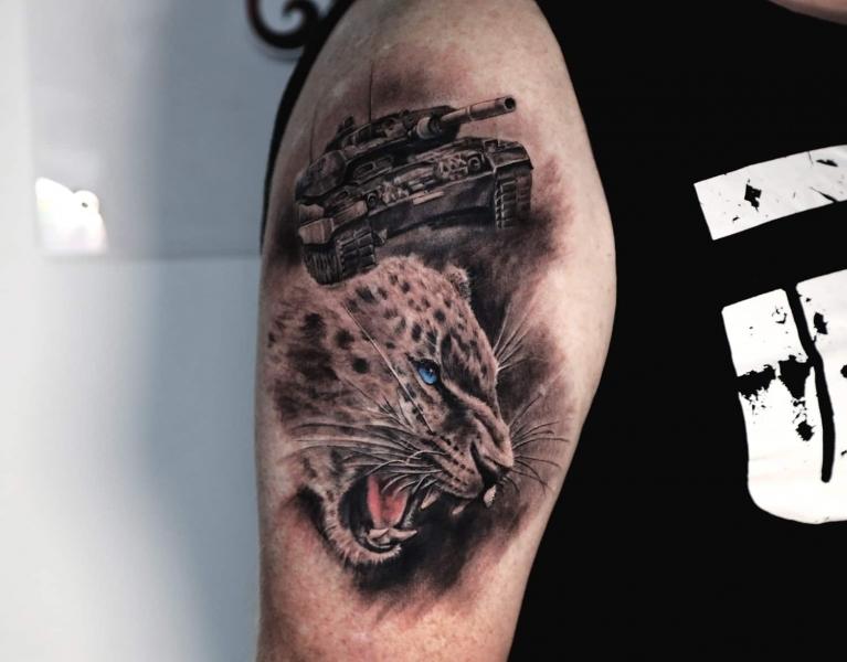Leo-Leopard-Panzer-Tank-Tattoo