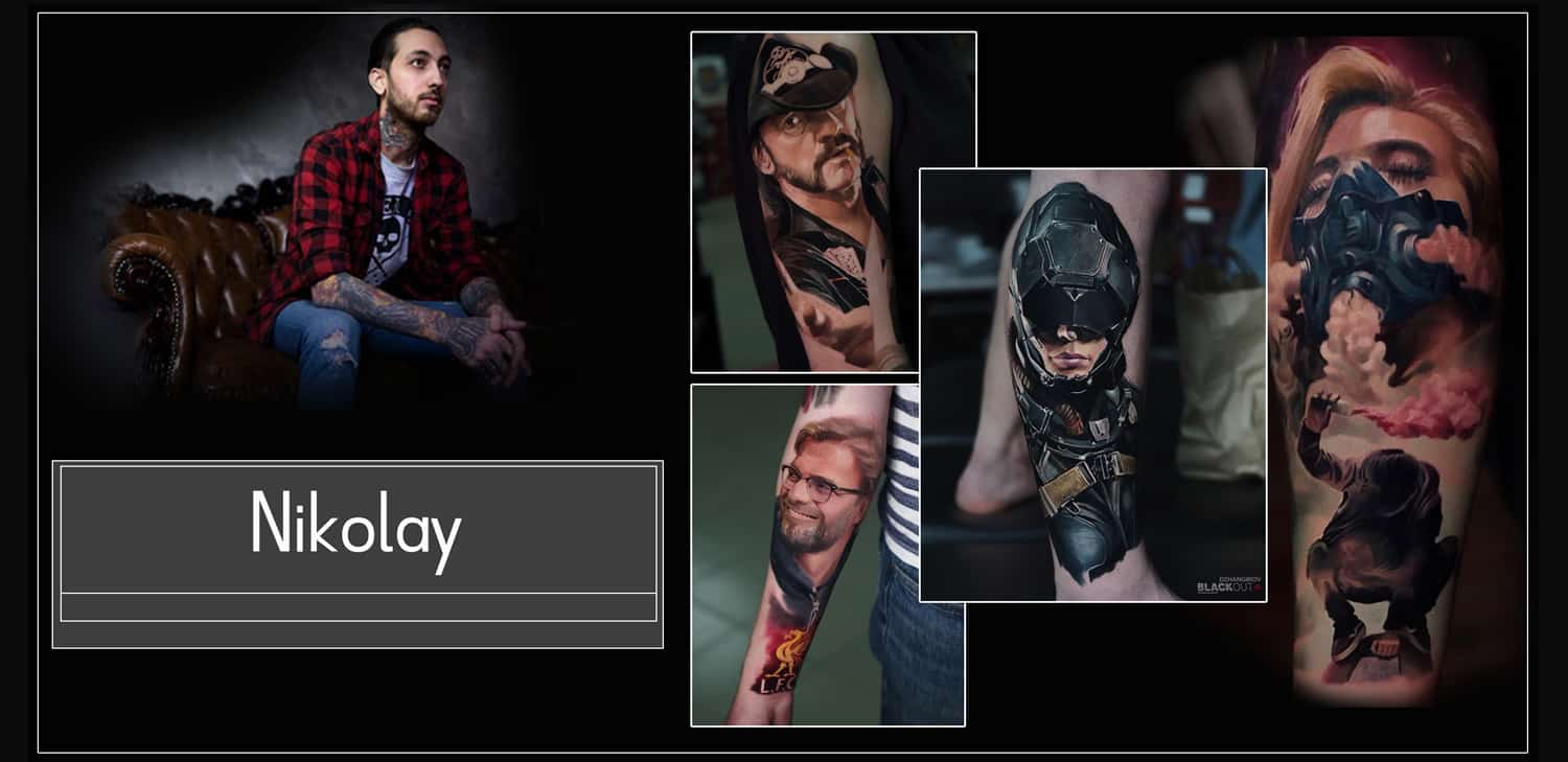 Nikolay Tattoo Artist 2brothers ink ultra foto realismus farbe und black and grey